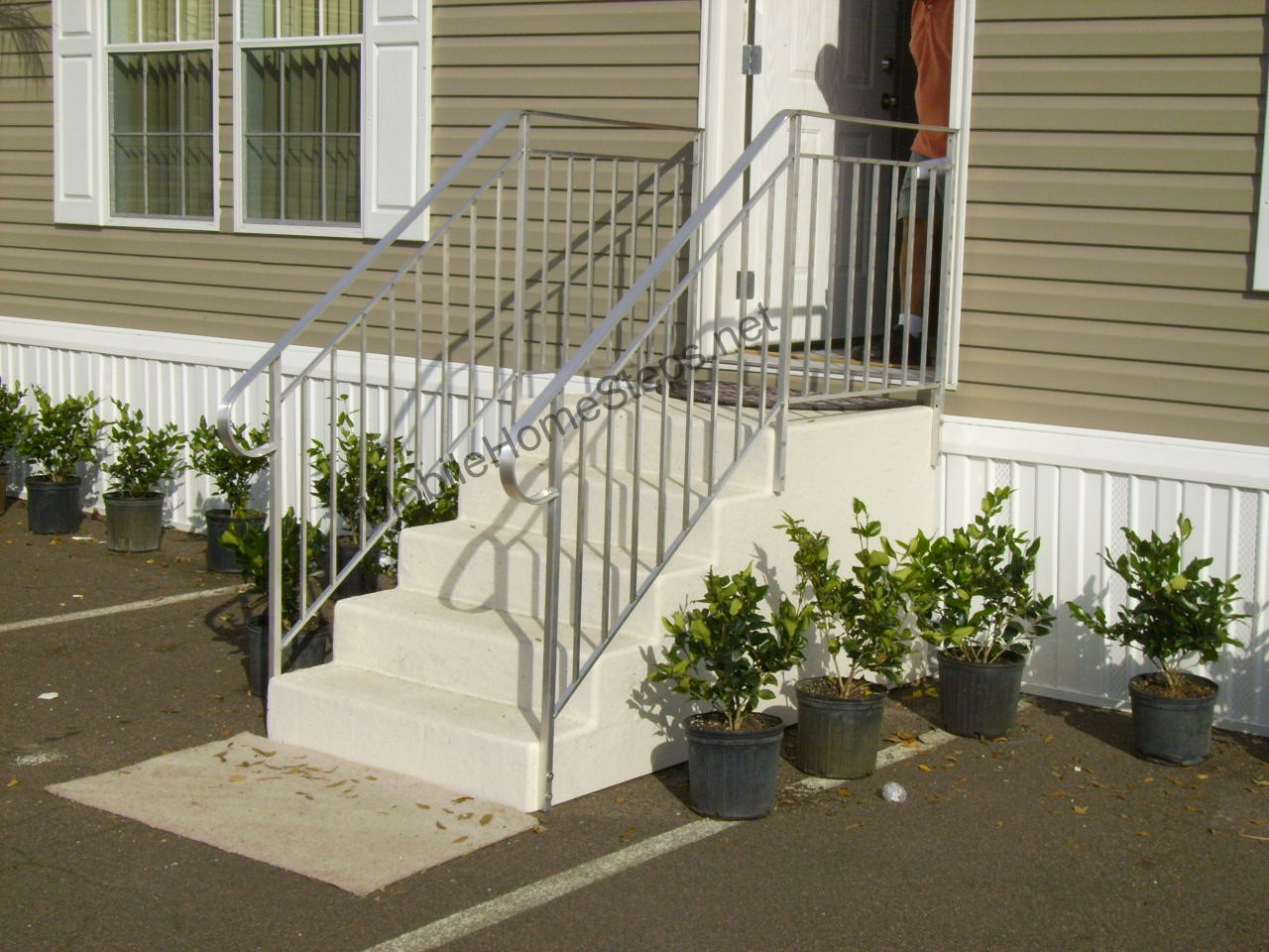 Mobile Home Exterior Steps - Options Available | Mobile ...
